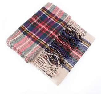 Facetosun Blanket Oversized Tartan Scarf Plaid Checked Wrap Shawl Bloggers Favourite