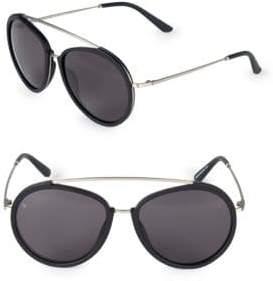 Viva 55MM Browline Aviator Sunglasses