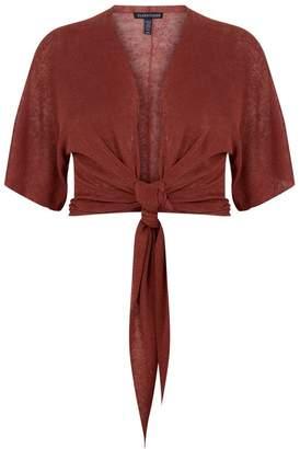 Eileen Fisher Tie Front Cardigan
