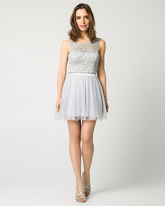 Le Château Lace & Mesh Two-Piece Party Dress