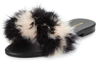 Avec Moderation Bora Bora Feather Flat Slipper Sandal
