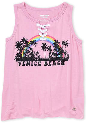 Butter Shoes Girls 7-16) Lace-Up Venice Beach Tank