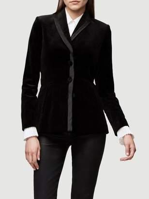 Frame Fitted Velvet Jacket