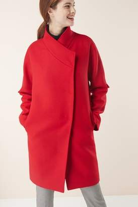 Next Womens Red Signature Cocoon Coat