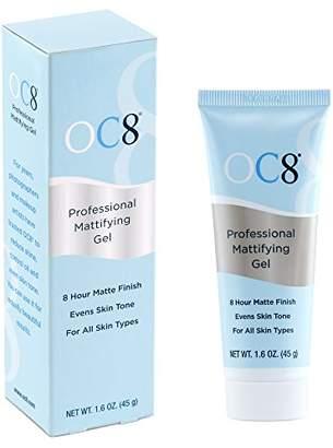 OC Eight Professional Mattifying Gel: Oil Control Mattifier Formula for Face - 1.6 Ounces