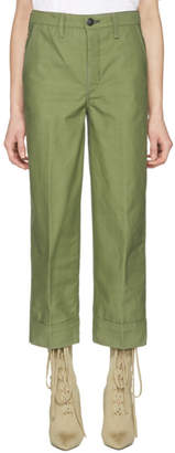Rag & Bone Green Yama Cropped Cargo Pants