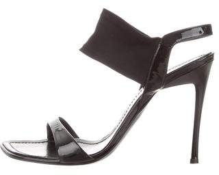 Casadei Patent Leather Ankle-Strap Sandals