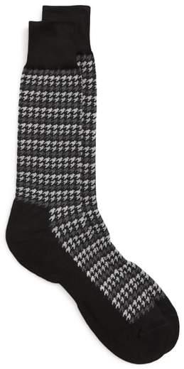 Nordstrom Men's Shop John W. Nordstrom(R) Houndstooth Stripe Socks