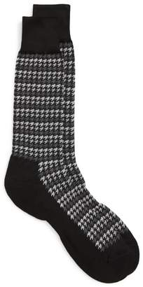 Nordstrom Houndstooth Stripe Socks