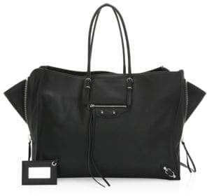 Balenciaga Papier Zip-Around A4 Leather Handbag