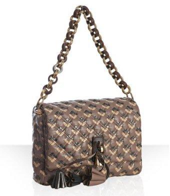 Marc Jacobs light brown diamond quilted leather 'Jennifer' shoulder bag
