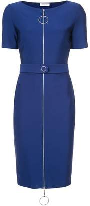 Thierry Mugler ring pull fitted dress