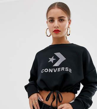Converse Star Chevron cropped black sweatshirt
