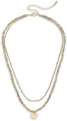 Canvas Goldtone Crystal Layered Necklace