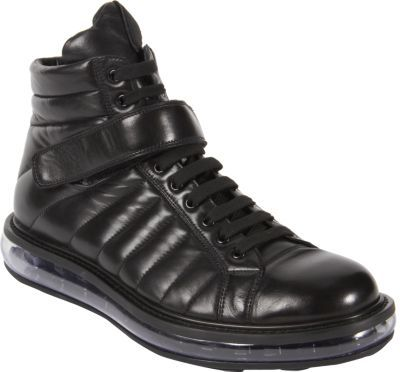Prada Velcro Strap Laceup Boot