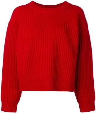 Acne Studios boxy rib knit sweater