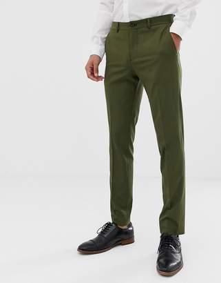 Jack and Jones stretch slim suit pants in khaki