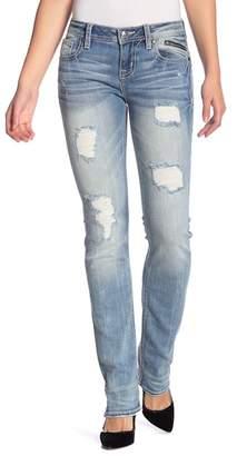 Miss Me Distressed Straight Leg Jeans