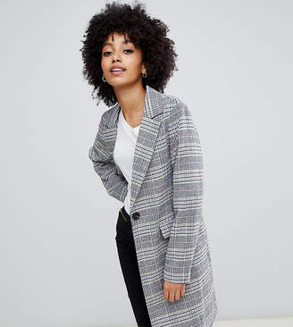 New Look tailored coat in mixed check