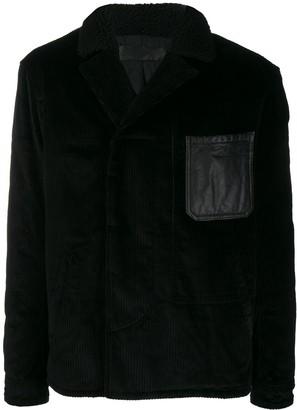 Haider Ackermann leather patch shirt jacket