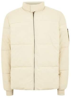 Topman Mens SELECTED HOMME White Puffer Jacket