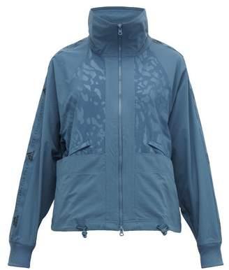 adidas by Stella McCartney Logo Print Performance Track Jacket - Womens - Blue