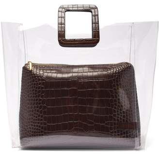 Staud - Large Shirley Pvc & Crocodile Effect Leather Tote - Womens - Dark Brown