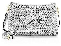 Anya Hindmarch Women's Neeson Metallic Woven Leather Crossbody Bag