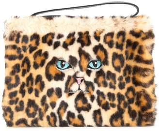 Vivetta faux leopard fur clutch bag