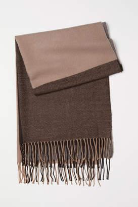 H&M Jacquard-weave Scarf - Brown