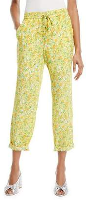Moschino Lemon-Print Crop Pants