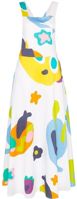 Mira Mikati Monster print apron dress