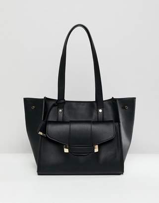 Glamorous Black Front Pocket Bag