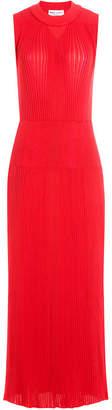 Sonia Rykiel Ribbed Maxi Dress with Wool
