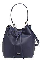 Lacoste New Women's Bucket Bag In Blue