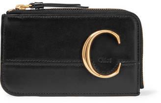 Chloé C Leather Cardholder - Black