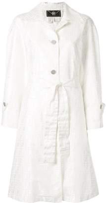 Fendi Pre-Owned Zucca print duster coat