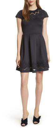 Ted Baker Lace & Mesh Skater Dress