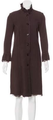 Raquel Allegra Textured Knee-Length Coat