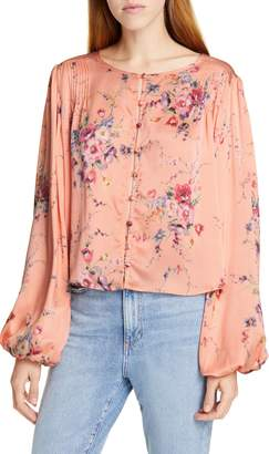 LoveShackFancy Talia Floral Silk Top