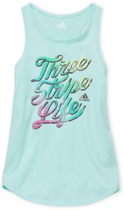adidas Girls 7-16) Mint Three Stripe Life Tank