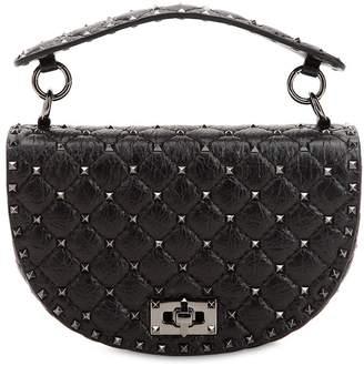 Valentino Spike Embellished Crackled Bag