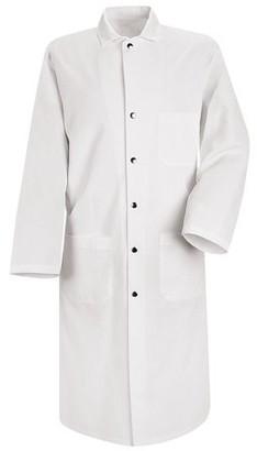 Red Kap Men's Snap-Front Spun Polyester Butcher Coat