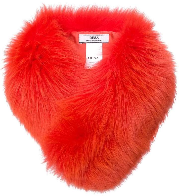 Desa 1972 fur collar scarf