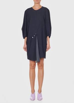 Tibi Asymmetrical Short Flap Front Dress