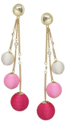 Ettika Wrapped Ball & Chain Statement Earrings