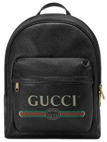 Gucci Men's Print Leather Backpack - White