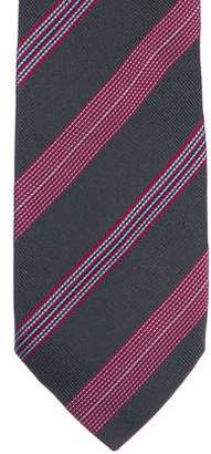 Thomas Pink Striped Jacquard Silk Tie