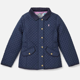 Joules Girls' Newdale Quilted Coat
