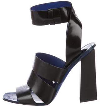 41575d256a6 Proenza Schouler Black Leather Straps Women s Sandals - ShopStyle